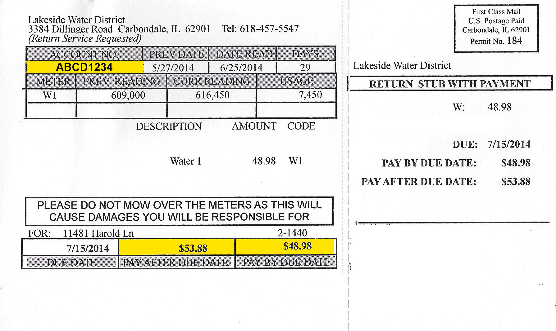 Lakeside Water District Online Payments